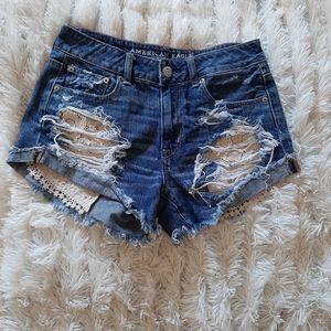 3/$303/$30-American Eagle torn shorts